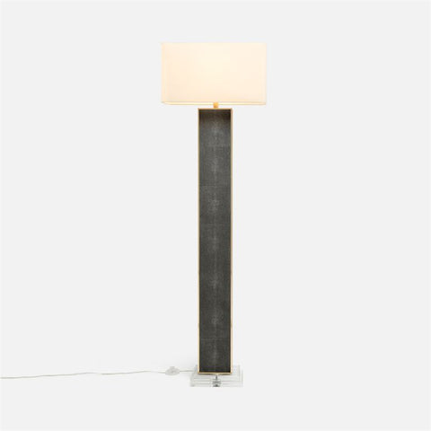 Faux Shagreen Linear Floor Lamp