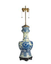 Antique Dutch Delft Faience Lamp