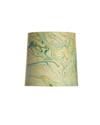 Marbled Acid and Teal Bookmark Paper Mini Lampshade