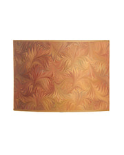 Tissue Box Apricot and Gold Marbled Bookpaper Cut Oval Lampshade