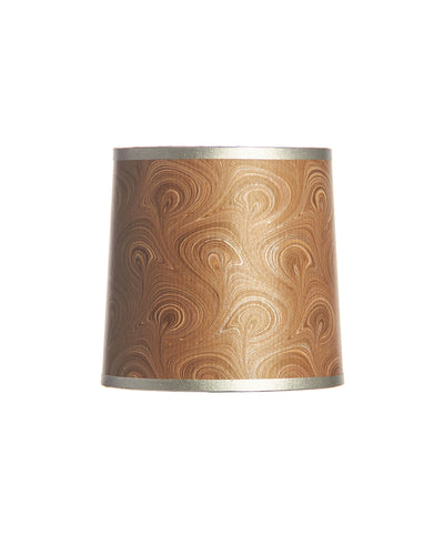 Marbled Chocolate and Silver Bookmark Paper Mini Lampshade