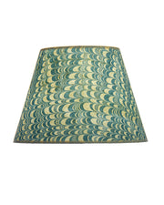 Empire Marbled Indian Cotton Rag Paper Combed Blue Lampshade