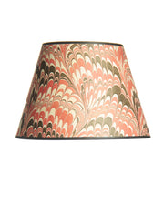 Empire Marbled Indian Cotton Rag Paper Red Black Lampshade