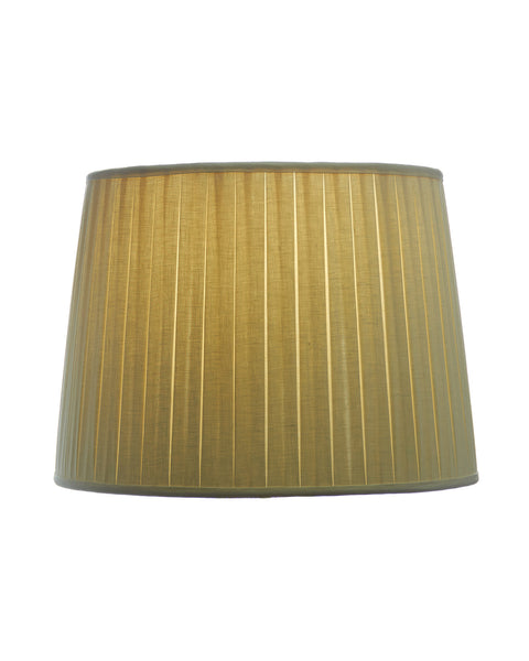 Modified Drum Pongee Closed Box Pleat Ivory