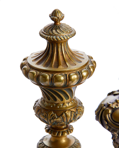 Newel Post Brass Continental Finials ~ Three