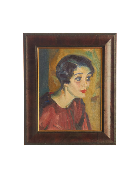 Framed Oil on Canvas 'Evelyn' by Haddon Sundblom