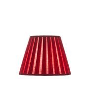 Classic Empire Open Box Pleat Red Coral Linen Lampshade