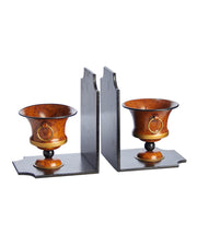 Pair Italian Tole Urn Bookends