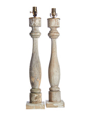 Pair Cottage Balustrade Lamps
