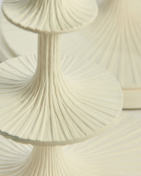 Lotus White Plaster Table Lamp