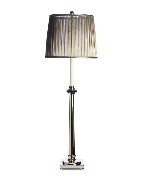 Column Console or Buffet Lamp Nickel on Ball Feet