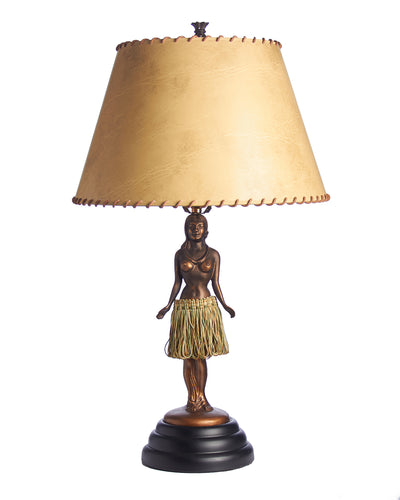 Vintage Hula Girl Lamp Hips Hula back and forth