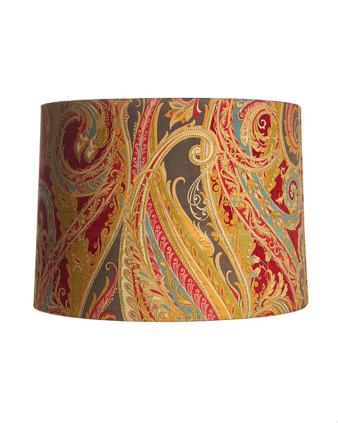 Parker Paisley Cotton Velvet Drum Lampshade