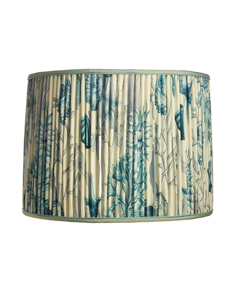 Drum with Clarence House Clarence House Aquamarina Print Lampshade