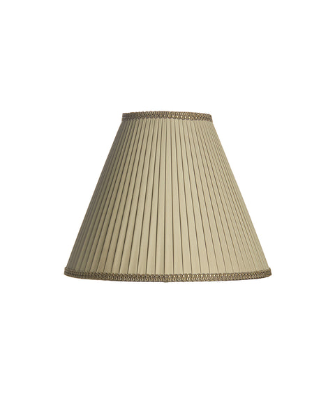 Knife Pleated Empire in Dovecote Gray Charmeuse Lampshade