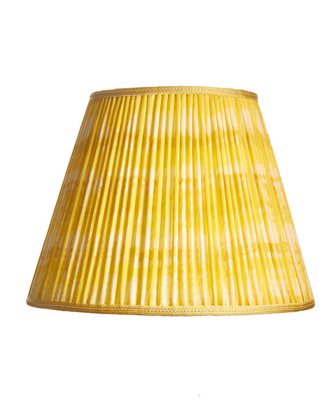 Empire Pleated Ikat Yellow Tie Dye Lampshade