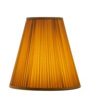 Elongated Empire Shirred Pleated Maize Silk Shantung Lampshade