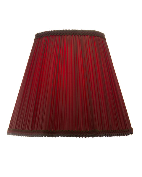 Fancy Bottom Pleated Raspberry Charmeuse  Lampshade