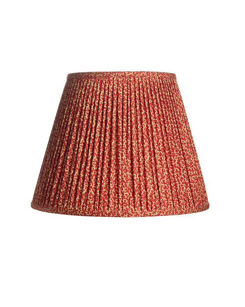Empire Shirred Pleat Red and White Print Lampshade