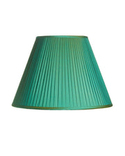 Empire Pleated Verde Green Shantung Silk Lampshade