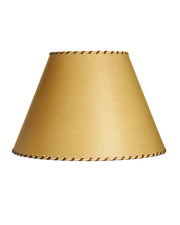 Empire Poblano With Brown Leather Whipstitching Lampshade