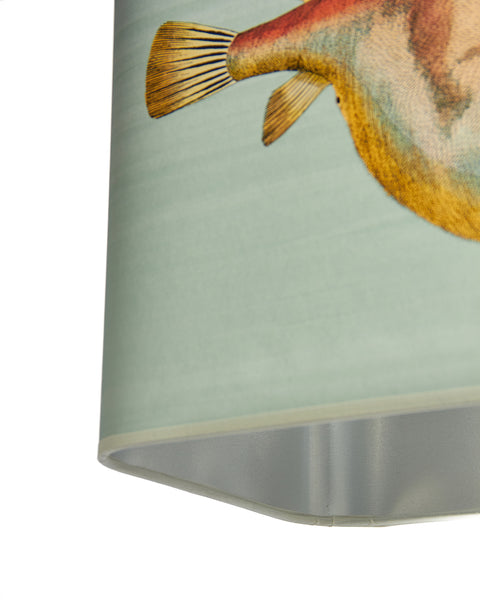 White Stone Crab Lamp with Lampshade (Pair Available)