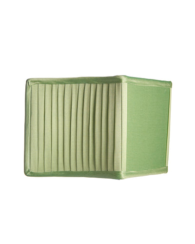 Clover Green Cotton Silk Shield Knife Pleat Clip on Lampshade