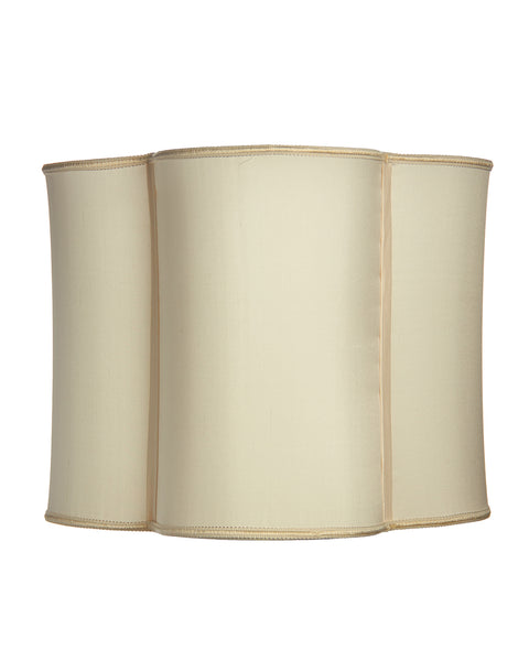 Stretched Central Park Quatrefoil Oyster Shantung Lampshade