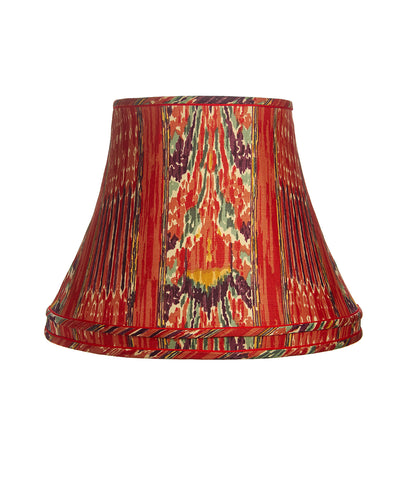 Stretched Mazar I Sharif Linen Ikat with Cuff Lampshade