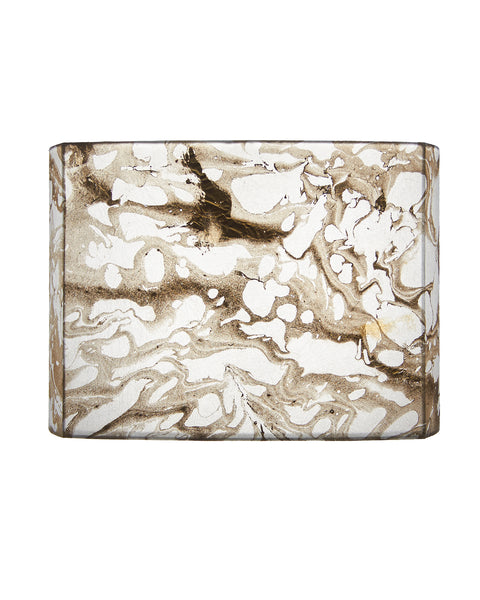Tissue Box Gold Leaf Papyrus Lampshade