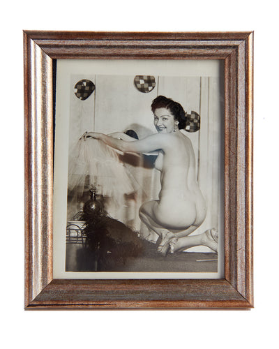 Vintage Photo Naked lady with Lamp