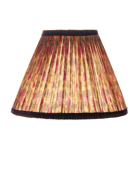 Vintage Pleated Sari Lampshade