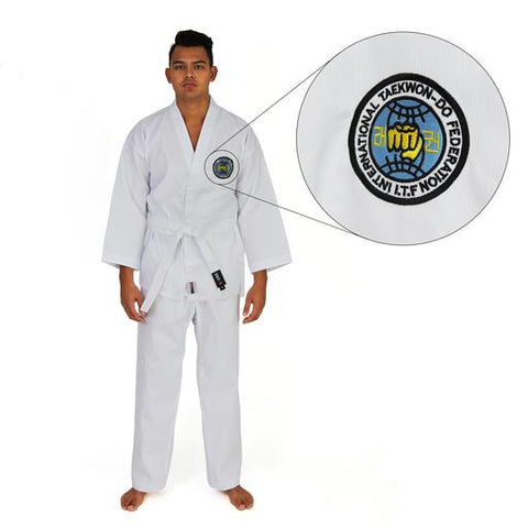 ITF TKD UNIFORM - 8OZ RIBBED STUDENT DOBOK