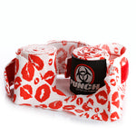 WOMENS BOXING HAND WRAPS – STRETCH – BLACK LIP ART – 3M