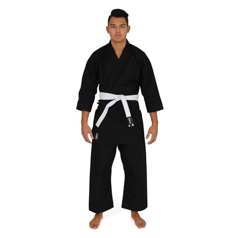 KARATE UNIFORM - 12OZ CANVAS GI (BLACK)