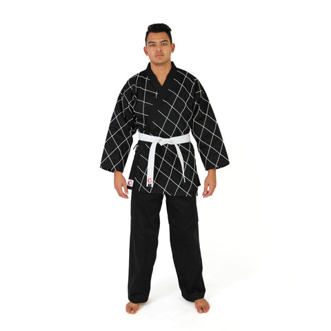 HAPKIDO UNIFORM - 8OZ DOBOK (BLACK/WHITE)