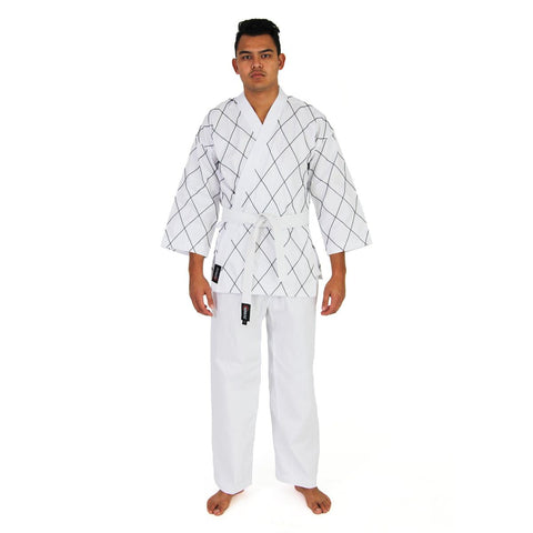 HAPKIDO UNIFORM - 8OZ DOBOK (BLACK/WHITE) - Talon Fight Gear