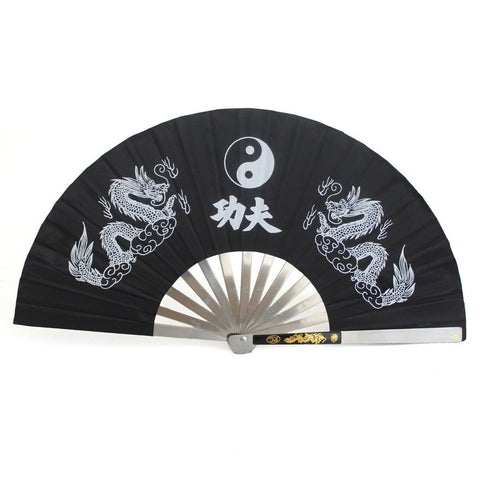 TAI CHI FAN - ALUMINIUM BLACK - Talon Fight Gear