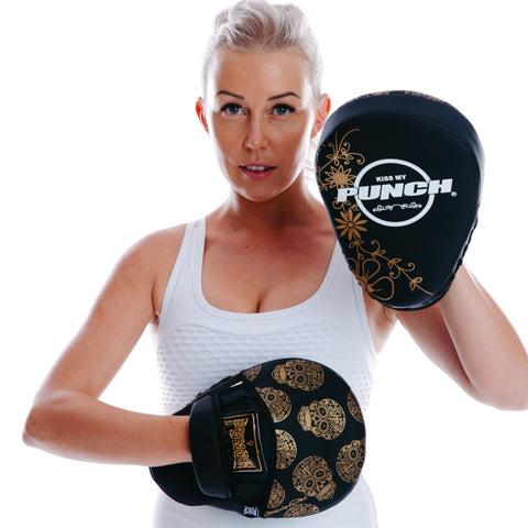 WOMENS FOCUS PADS – SKULL ART - Talon Fight Gear
