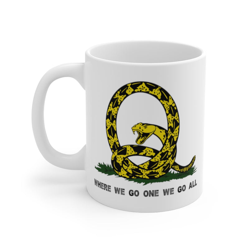 Don't Tread on Me - WWG1WGA Mug 11oz