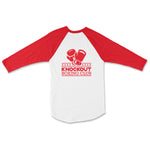 KO Boxing club Baseball Tee - Red