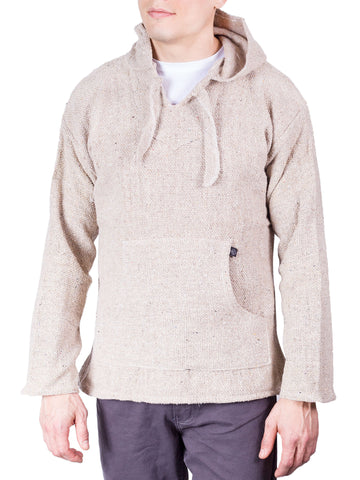 Knockout Mens Poncho - White