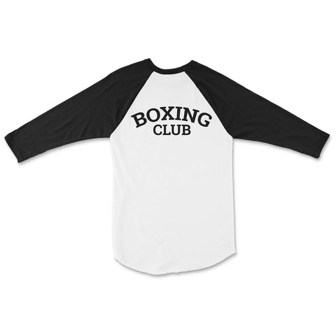 Boxing Club Graphic Baseball Tee - Black