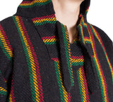 Knockout Mens Poncho - Rasta