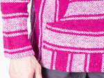 Knockout Mens Poncho - Stripes Magenta