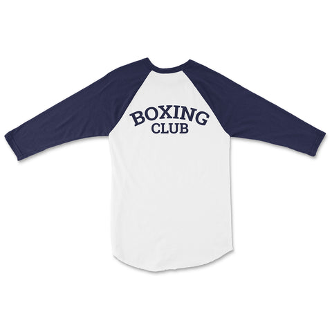 Boxing Club Graphic Baseball Tee - Blue