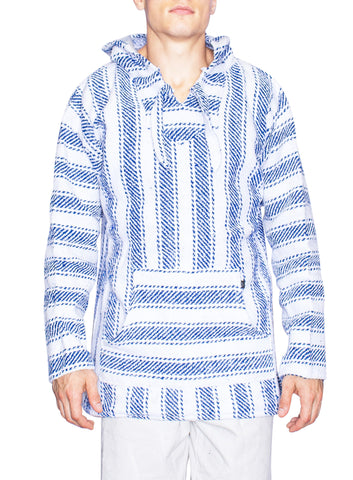 Knockout Mens Poncho - Stripe Blue