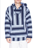 Knockout Mens Poncho - Stripe Navy