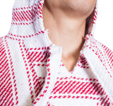 Knockout Mens poncho - Stripe Red