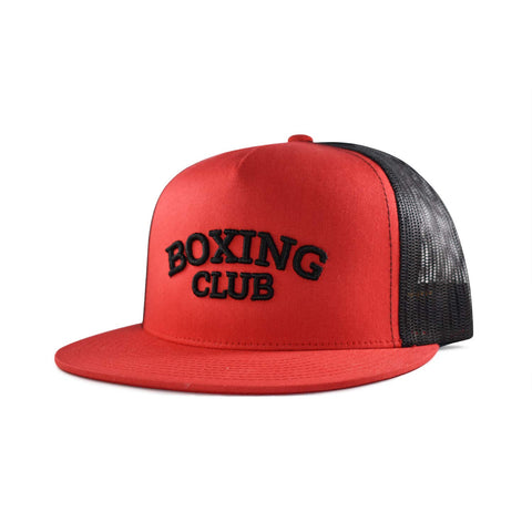 Boxing Club Trucker Hat - Red/Black